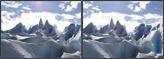 3D- Perito Moreno Glacier, Argentina (3dphoto.net) Tags: blue patagonia snow ice argentina nationalpark 3d crosseye hiking sharp andes shards losglaciares peritomorenoglacier xeye
