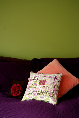 Quilted Amy Butler Pillow
