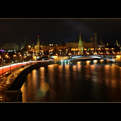 Moscow tonight (JannaPham) Tags: longexposure bridge winter light reflection night canon river wednesday landscape eos evening russia bokeh moscow centre explore 5d tonight kremlin markii project365 explorefrontpage hbw exploretop10 60365 jannapham