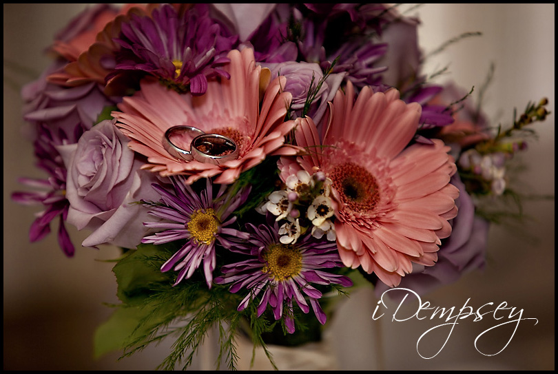 bouquet with wrings