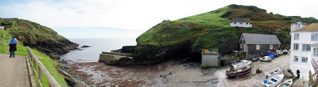 Portloe beach panorama