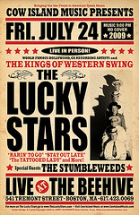 The Lucky Stars @ The Beehive (Boston, MA) 7/24/2009 Show Poster (AtomicJukebox.com) Tags: show classic boston vintage poster stars ma concert flyer massachusetts country jerry gig lucky western rockabilly hatch dancehall hillbilly swingdancing pedalsteel swingdance hatchshowprint steelguitar westernswing clayworth jerryclayworth theluckystars atomicjukebox
