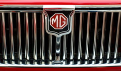 MG Grill (Melanie Chadd Photography) Tags: red grill mg chrome hereford redsportscar e520 herefordshiremgownersclub