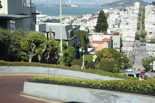 Going down Lombard Street