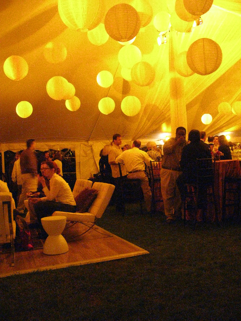 Tent Draping and Lighting