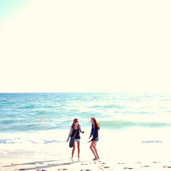 (Amanda) Tags: ocean california venice girls summer beach water sand waves bright overexposed