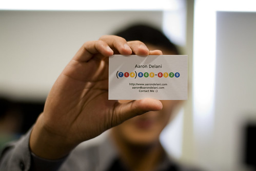 Google Voice Business Card