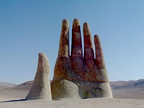 monumen bersejarah, Mano del Desertio, bangunan mengerikan, arsitektur tingkat tinggi, karya mengaguman, tempat mengerikan