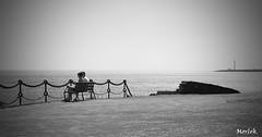 Is this love ? (Luca Morlok) Tags: sea summer bw love canon faro eos spain kiss mare estate lanzarote canarias espana baci canaries 2009 amore playablanca romantico bacio biancoenero spagna canarie blacksndwhite 450d farodepechiguera