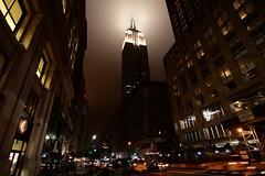 Empire State Building (Gwenaël Piaser) Tags: night notte nuit gratteciel skyscraper grattacielo building immeuble gotham city empire state bulding manhattan nyc new york newyork usa july 2009 unlimitedphotos canon eos 50d canoneos eos50d canoneos50d tokinaaf1116mmf28 atx116prodx tokina 116 atx 1116mm tokina1116mmf28 wideangle wide angle aplusphoto gwenflickr небоскребы mygearandmepremium mygearandmebronze ville 5000