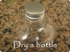 Dry a bottle