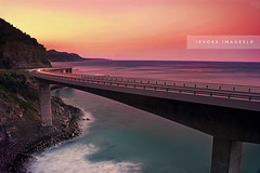 :: Grand Dreams :: (evoke images) Tags: ocean longexposure bridge blue sunset sea sky cliff mountain cars water clouds landscape geotagged lights coast rocks waves afternoon traffic hill australia nsw newsouthwales clifton whitewash illawarra lightstream seacliffbridge grandpacificdrive sonya350 alemdagqualityonlyclub mathewsacco evokeimages geo:lat=34255314 geo:lon=150972683