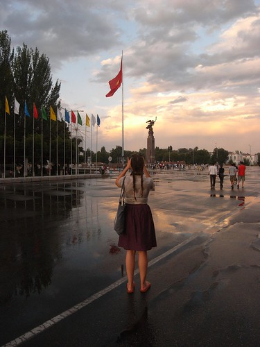 Square in central Bishkek