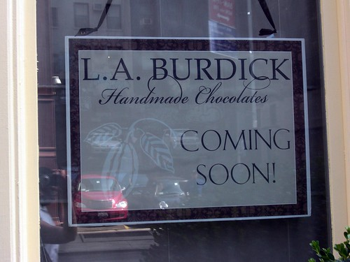 LA Burdick sign