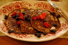 Buckwheat Pancakes with Seasonal Fruit, Boqueria
