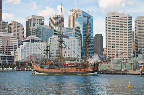 Replica of James Cook's bark 'Endeavour'