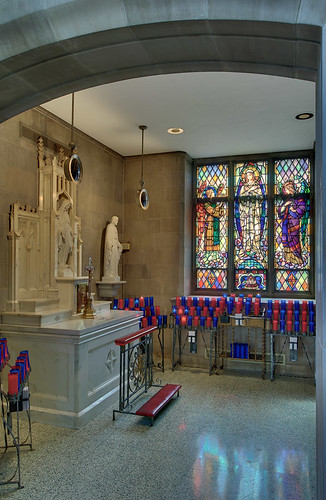 Roman Catholic Cathedral of Saint Peter, in Belleville, Illinois, USA - Our Lady's Chapel