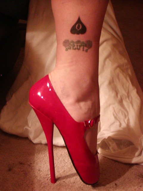 i am a slut , my Black spade tattoo is to show that i am devoted to BBC only