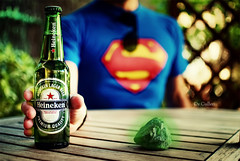 Heineken + Kryptonite = Superman would be drunk! (Dr Cullen) Tags: heineken nikon bokeh superman kryptonite 35mmf18 d80