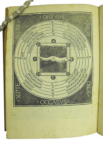 Woodcut diagram in Publicius, Jacobus: Ars oratoria, ars epistolandi et ars memorativa by University of Glasgow Library