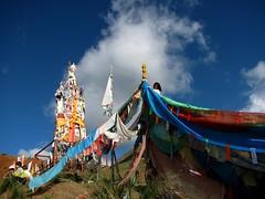 Latse and Prayer-flags (tsemdo.thar) Tags: tibetans prayer culture flags tibet amdo ritual prayerflags qinghai lazi tibetam latse   karmathang