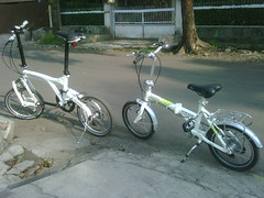 A birdy and a viper (my son's) (papih_id) Tags: bike viper folding birdy
