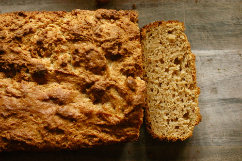 apple rosemary bread, still warm