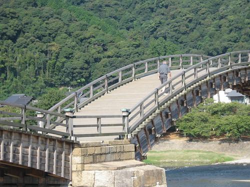 Don, a fellow tourgoer, crossing the bridge.