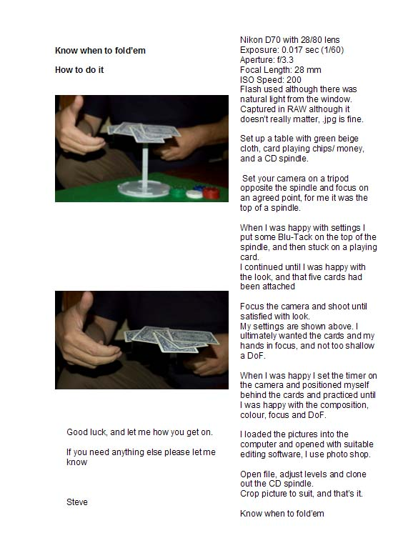 how to do it - know when to fold'em