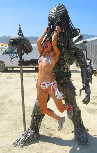 Hanging on the Beast : Burning Man 2009 #44