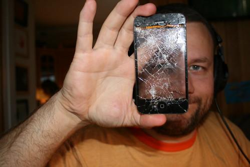 ødelagt lcd skjerm iphone