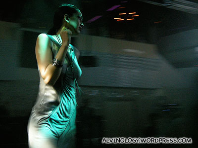 Slinky silver dress