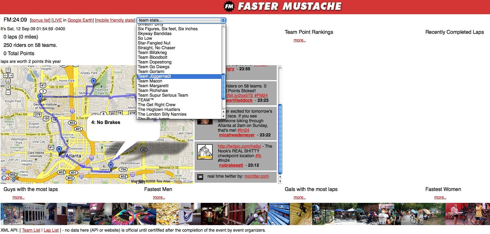 Faster Mustache Racetracker