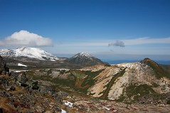 黒岳から続く山並み