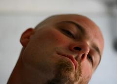 i know (diabbolo) Tags: boy portrait selfportrait man guy me face beard io uomo half ritratto viso barba afterhours ragazzo volto mezzo bjarke guglielmo rasato canzone pelato theresmanyways