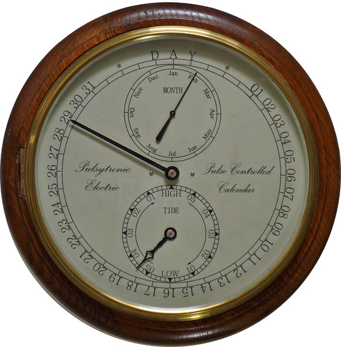 "12"" Slave Calendar & Tide Clock calendar01"