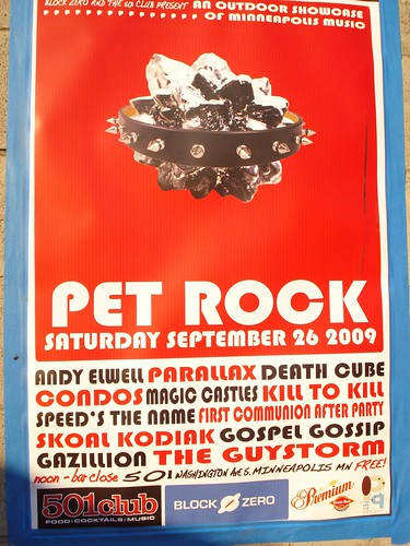 09/26/09 Pet Rock Benefit Concert - Minneapolis (Poster)