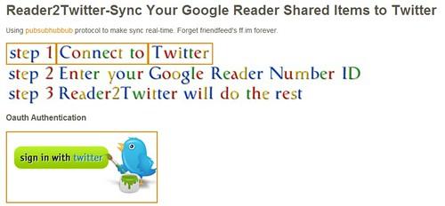 Reader2Twitter