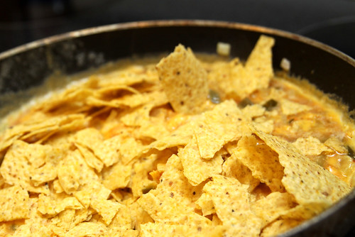 top with chips- migas