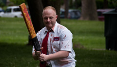 Shaun of the Dead (brad_mc) Tags: costumes columbus blood zombie sony makeup gore horror undead alpha a200 fundraiser guts shortnorth shaunofthedead zombiewalk