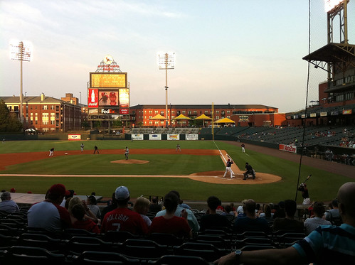 Behind Home Plate at AutoZone Park, Memphis, Tenn.