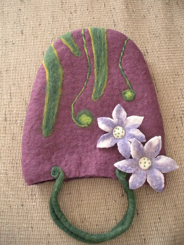 Purple Felt bag