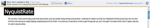 Facebook | External link frame