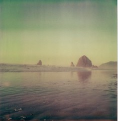 (revivify) Tags: polaroid sx70 coast cannonbeach haystackrock artistictz polapremium