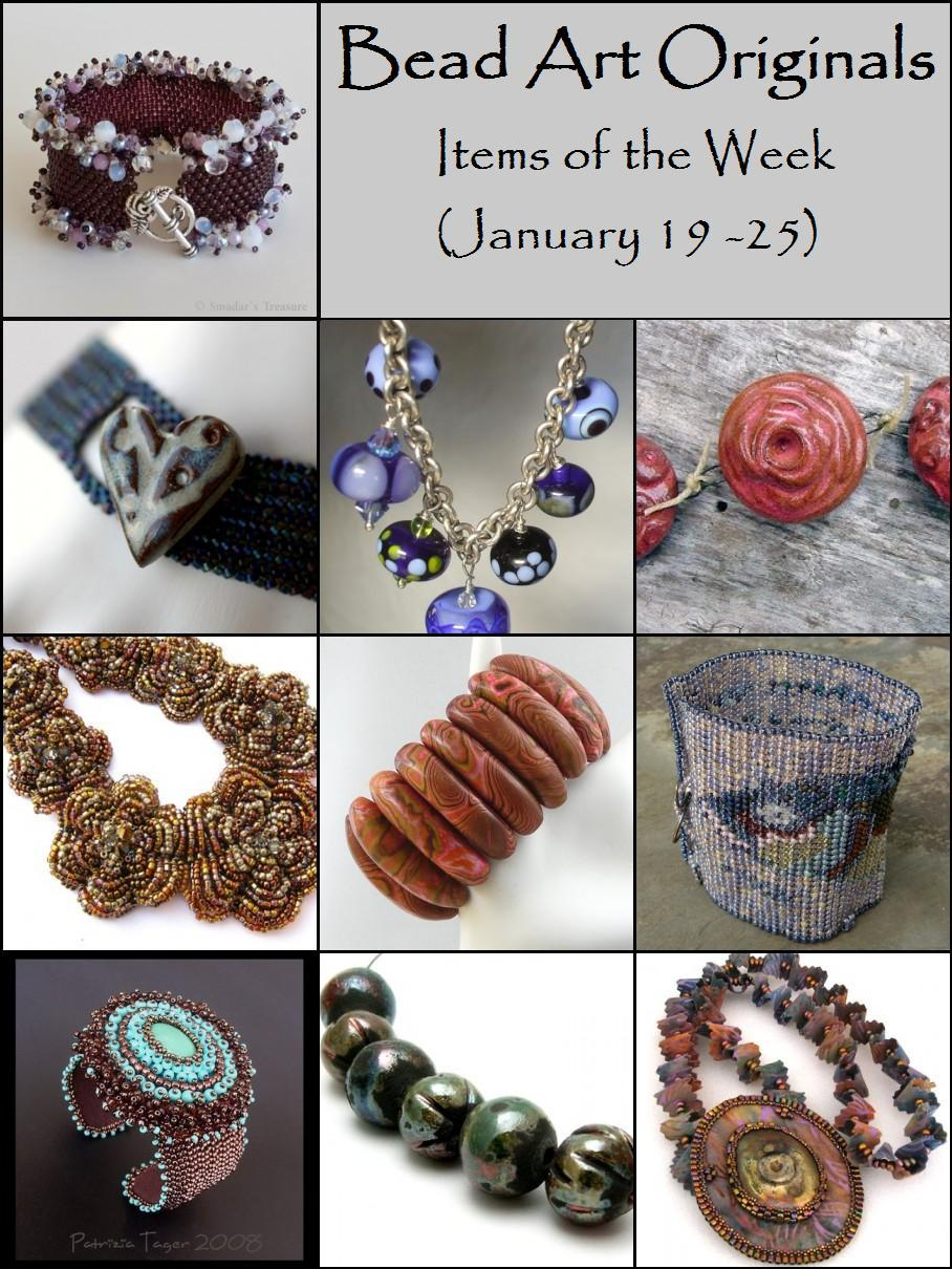 Bead Art Originals Items of the Week (1/19-1/25)