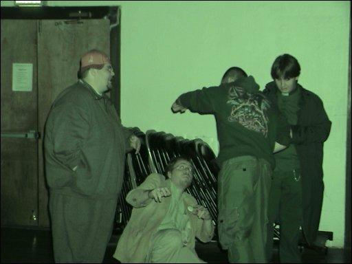 Corey and Me and Karl and Kos at a Brujah Rave LARP