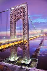 George Washington Bridge on Martin Luther King Day (Tony Shi Photos) Tags: hudsonriver hdr georgewashingtonbridge portauthority 纽约 martinlutherkingsday 紐約 newyorkcitynyc fortleenj kevinwoods federalholiday nikond700 ньюйорк ニューヨークシティ 뉴욕시 thànhphốnewyork न्यूयॉर्कशहर tonyshi مدينةنيويورك gwbatmlk biggestusflag 马丁路德金日 黑人领袖 乔治华盛顿大桥 นิวยอร์กซิตี้