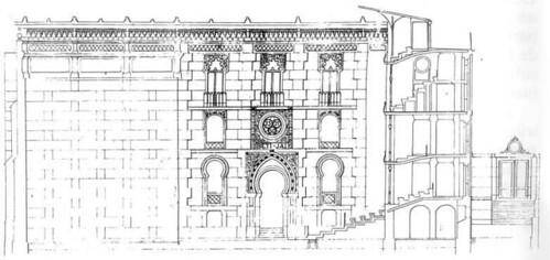 Plano fachada y sección