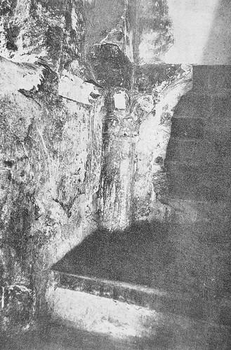 Restos islámicos en el interior de la Torre de San Lorenzo a principios del siglo XX