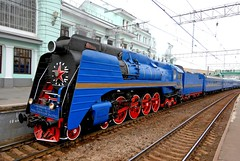 Train Chartering - locomotive P-36, used by the Golden Eagle Trans-Siberian Express